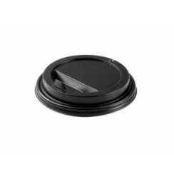 Крышка для горячих напитков 80 мм (черная)